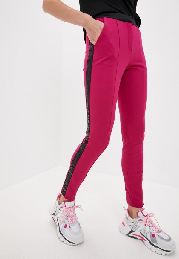 женские повседневные брюки karl lagerfeld, розовые