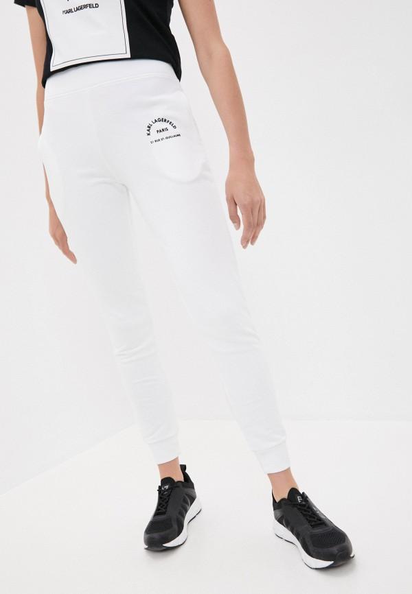 женские спортивные брюки karl lagerfeld, белые