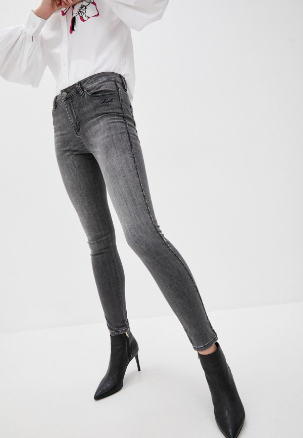 женские джинсы karl lagerfeld, серые