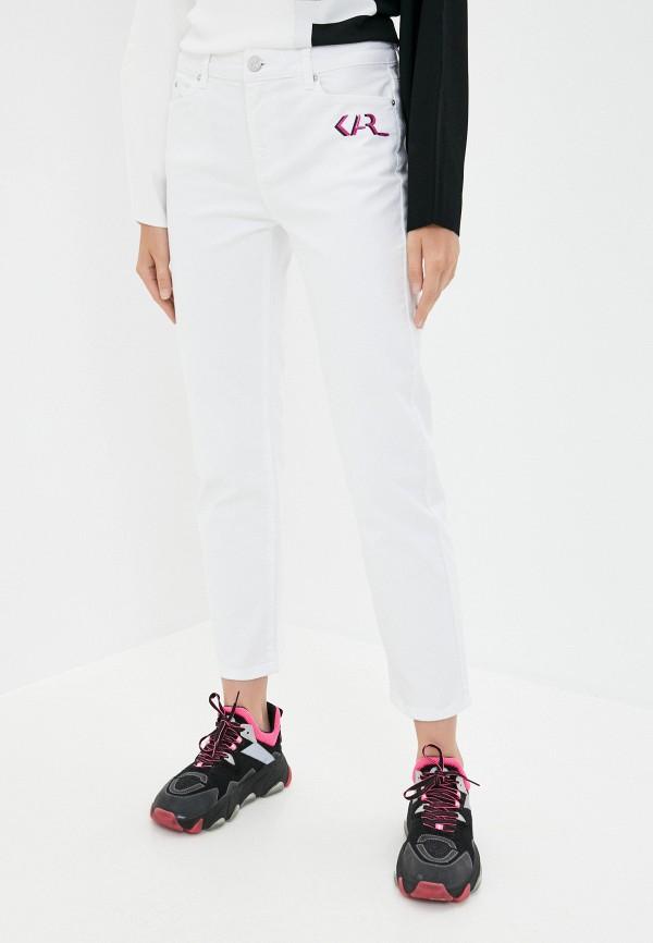 женские прямые джинсы karl lagerfeld, белые