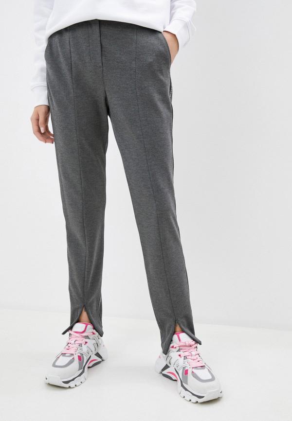 женские повседневные брюки karl lagerfeld, серые