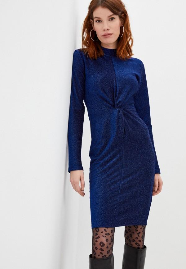 женское вечерние платье karl lagerfeld, синее