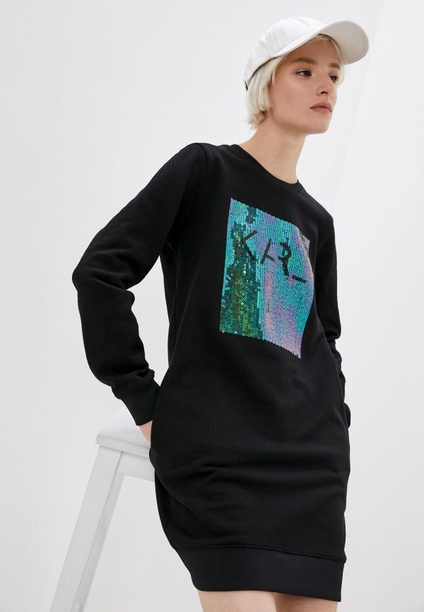 женское платье karl lagerfeld, черное