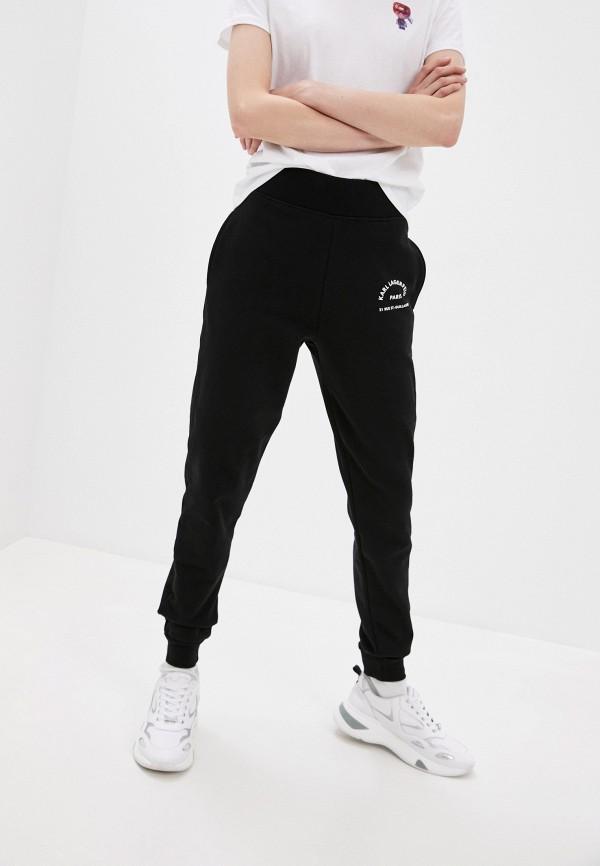женские спортивные брюки karl lagerfeld, черные