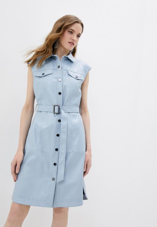 женское платье karl lagerfeld, голубое