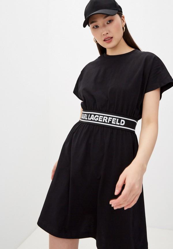 женское повседневные платье karl lagerfeld, черное