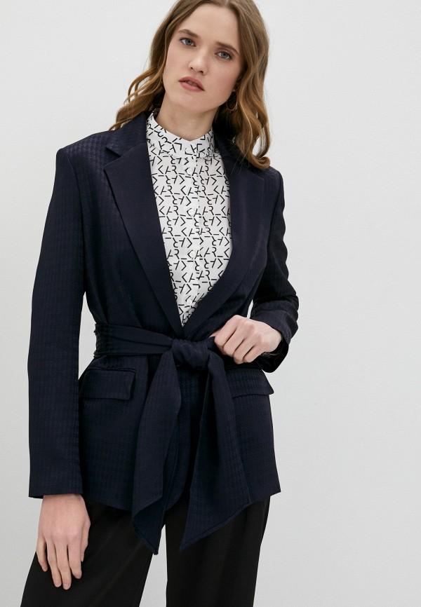 женский пиджак karl lagerfeld, синий