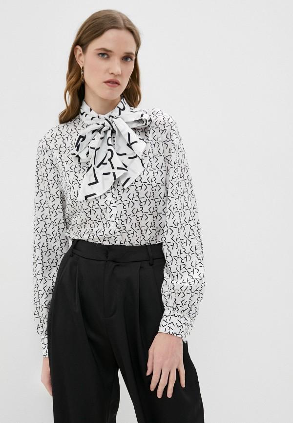 женская блузка karl lagerfeld, белая