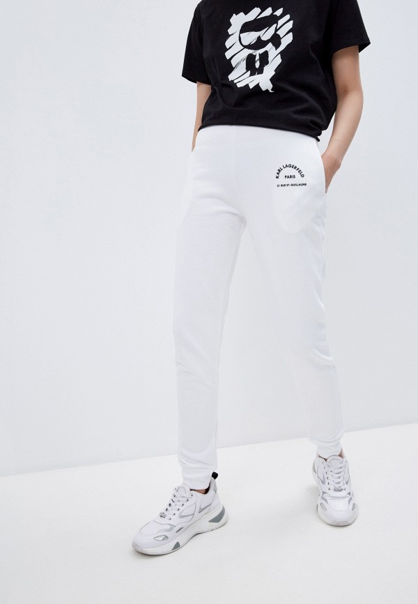 женские брюки karl lagerfeld, белые