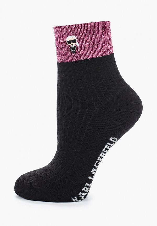 женские носки karl lagerfeld, черные