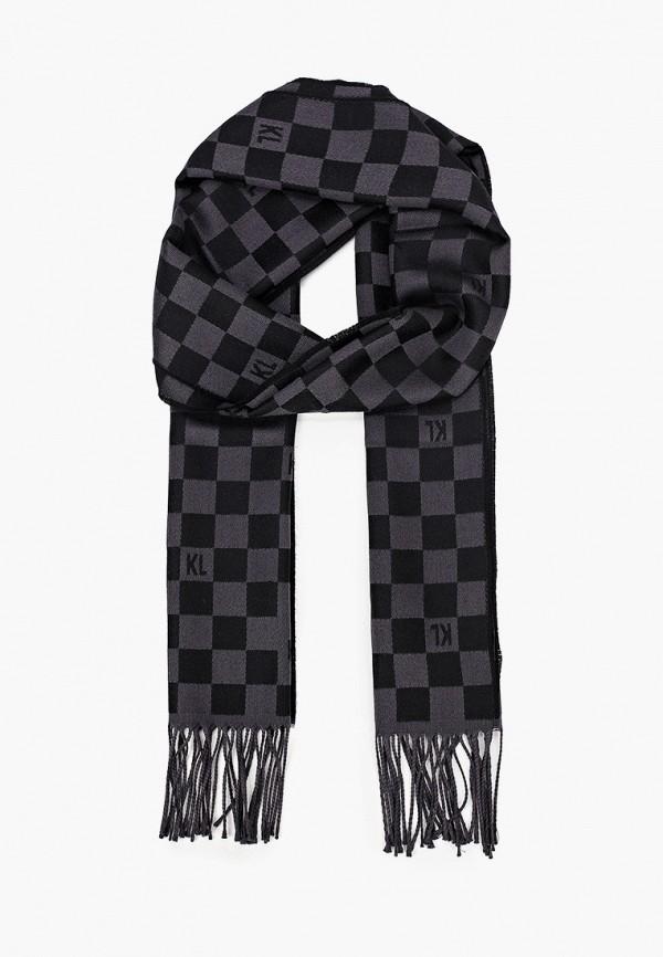 мужской шарф karl lagerfeld, черный
