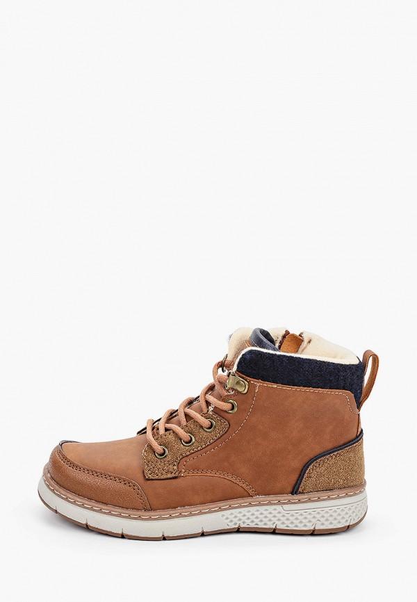 ботинки kakadu для мальчика, коричневые