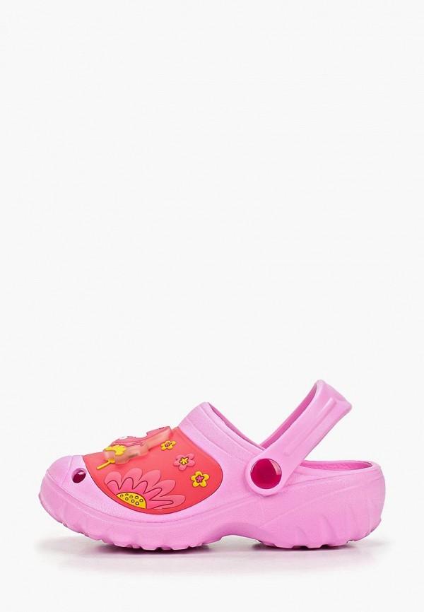 сабо kakadu для девочки, розовое
