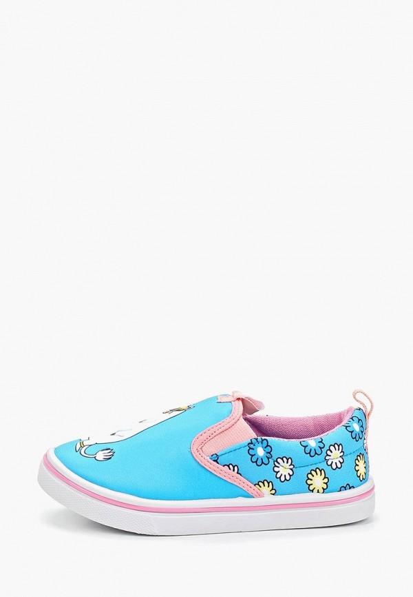 слипоны kakadu для девочки, голубые