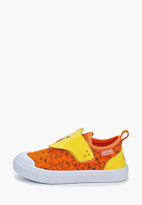кеды kakadu для девочки, оранжевые