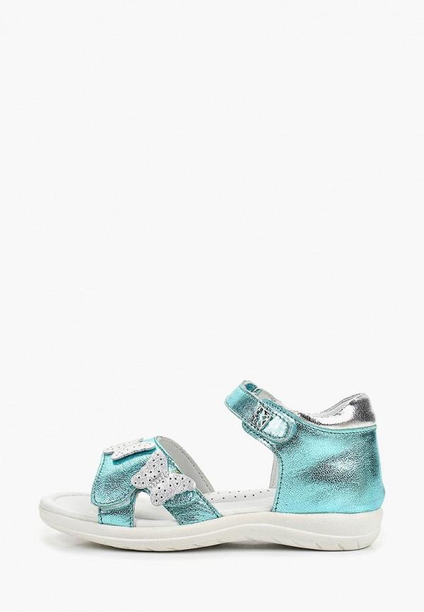 сандалии kakadu для девочки, голубые