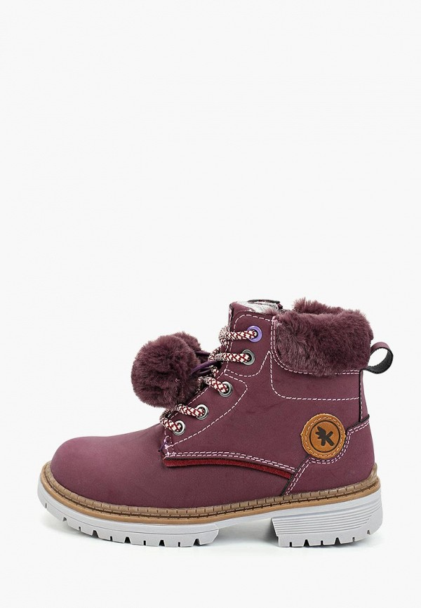 ботинки kakadu для девочки, фиолетовые
