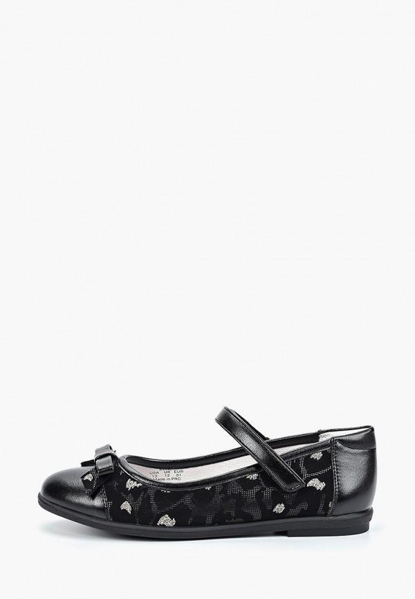 туфли kakadu для девочки, черные