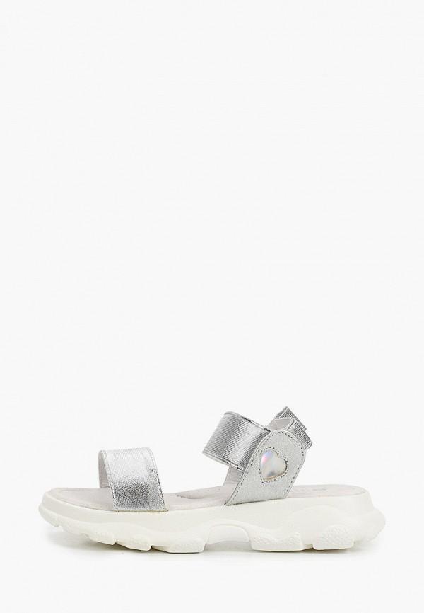 сандалии kakadu для девочки, серебряные
