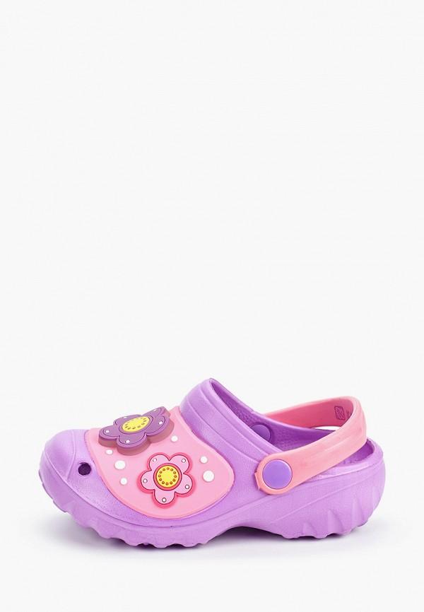 сабо kakadu для девочки, фиолетовое