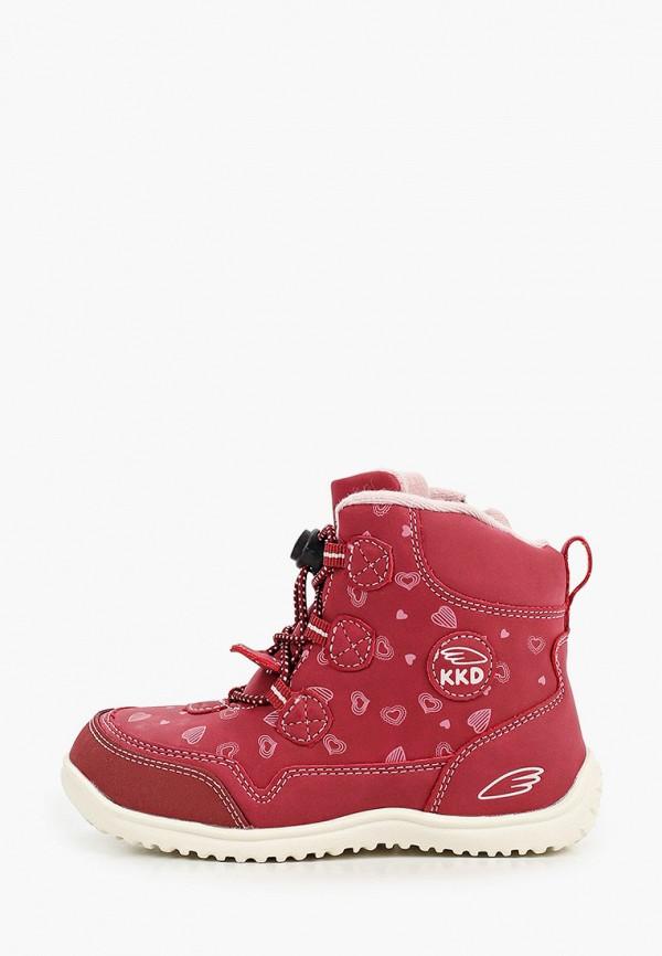 ботинки kakadu для девочки, бордовые