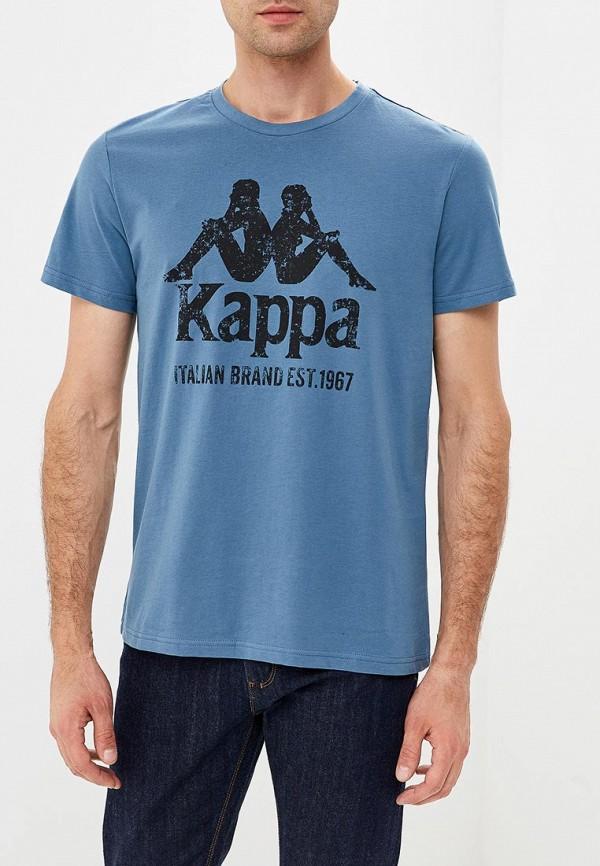 Футболка Kappa, KA039EMCPRZ4, голубой, Осень-зима 2018/2019  - купить со скидкой