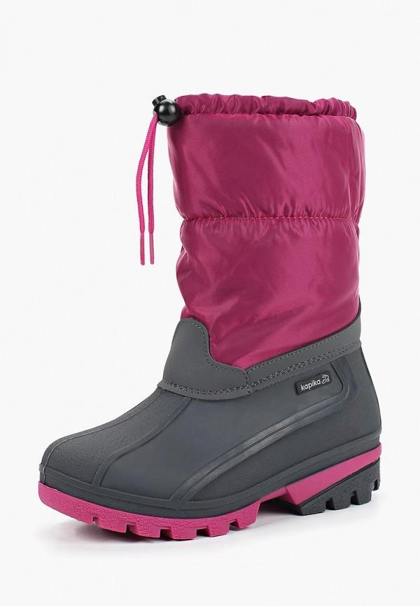 резиновые сапоги kapika для девочки, фиолетовые