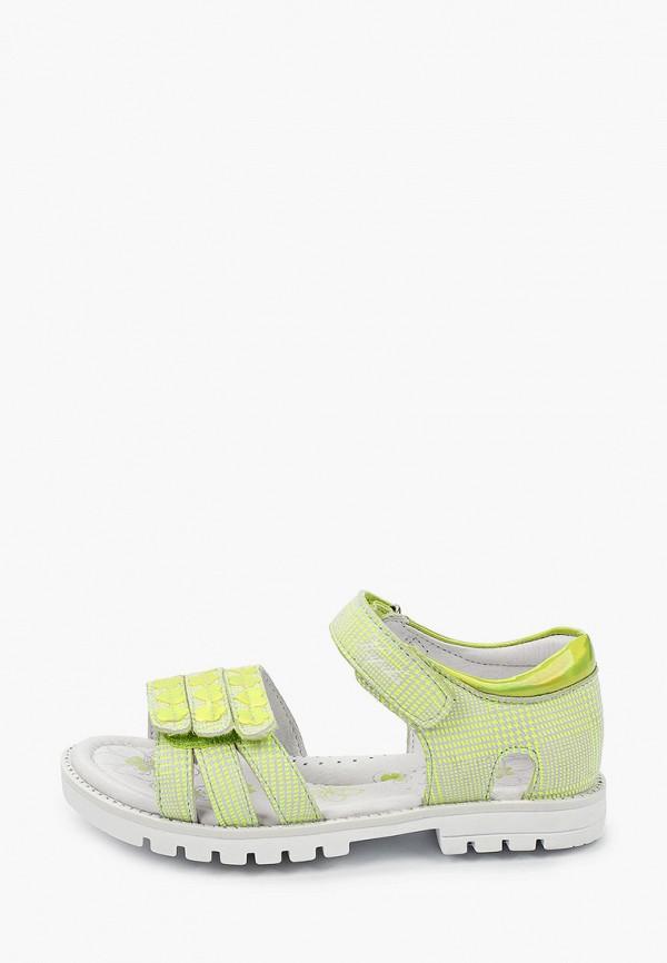 сандалии kapika для девочки, зеленые