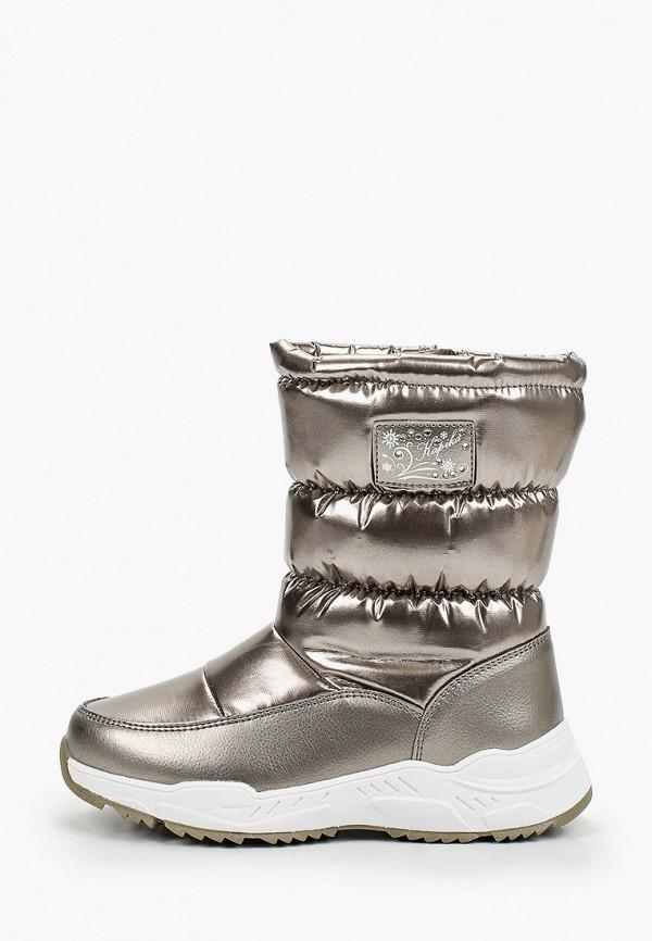 дутики kapika для девочки, серебряные