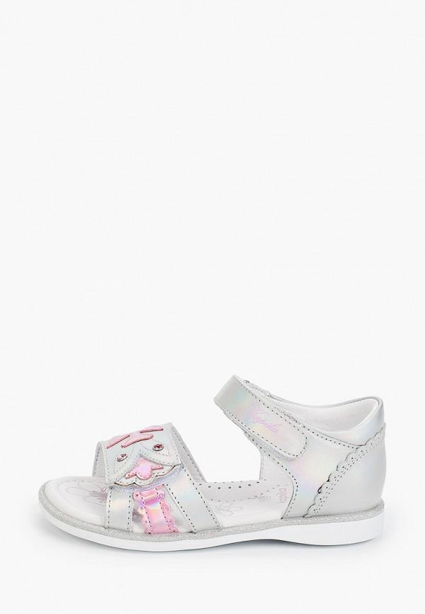 сандалии kapika для девочки, серебряные