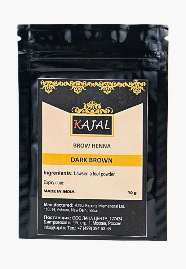 женский тени для бровей kajal, коричневый