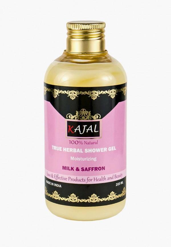 Купить Гель для душа Kajal, увлажняющий, травяной Козье молоко и Шафран , 200 мл, ka041lwaypl5, желтый, Весна-лето 2019