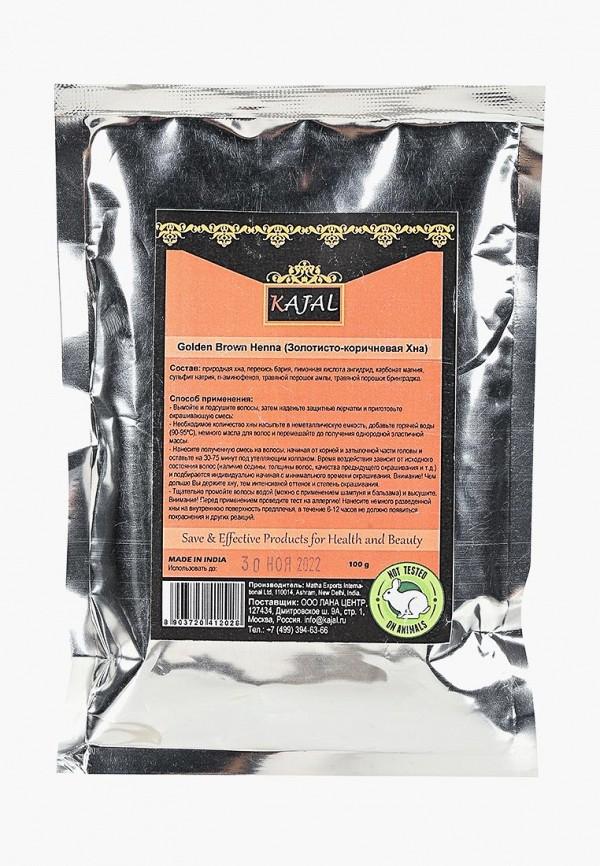 Купить Хна для волос Kajal, (золотисто-коричневая) 100 г, KA041LWBZSH5, коричневый, Осень-зима 2018/2019