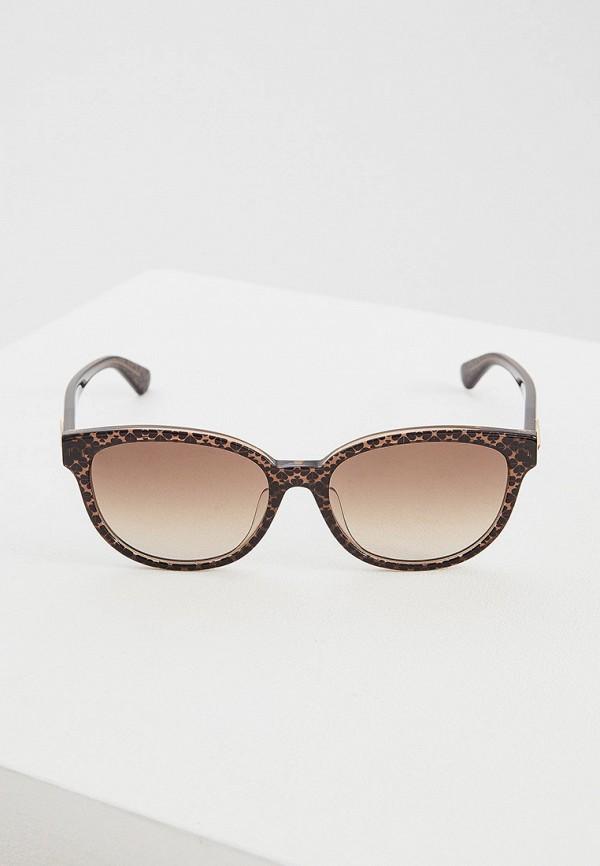 Фото 2 - Очки солнцезащитные Kate Spade коричневого цвета