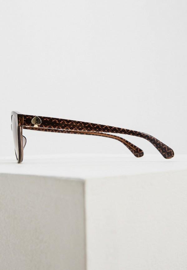 Фото 3 - Очки солнцезащитные Kate Spade коричневого цвета