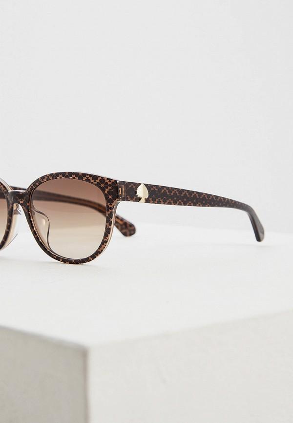 Фото 4 - Очки солнцезащитные Kate Spade коричневого цвета