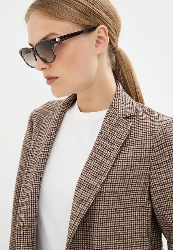 Фото 6 - Очки солнцезащитные Kate Spade коричневого цвета