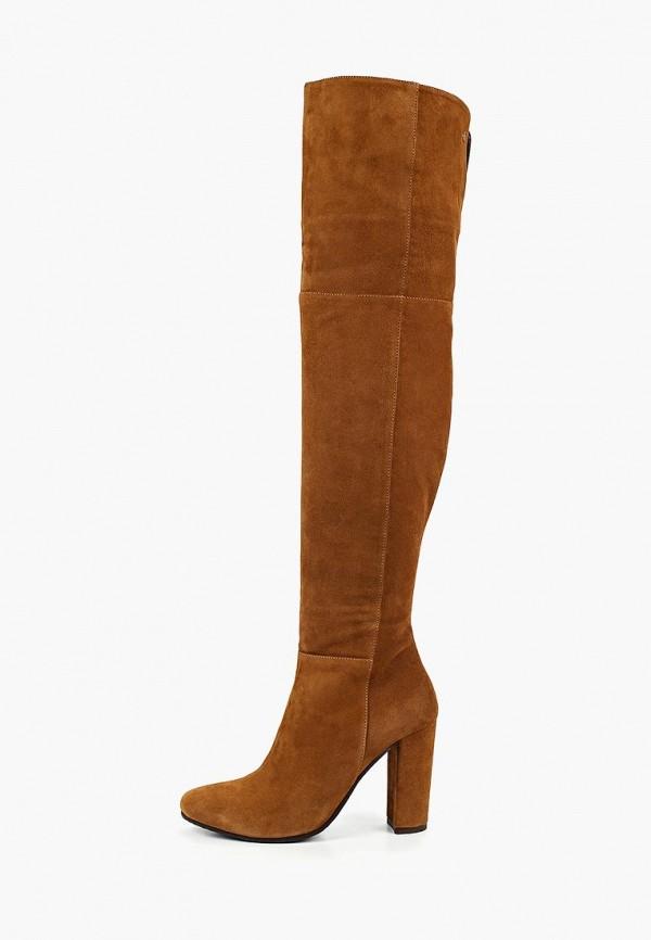 женские ботфорты kazar, коричневые
