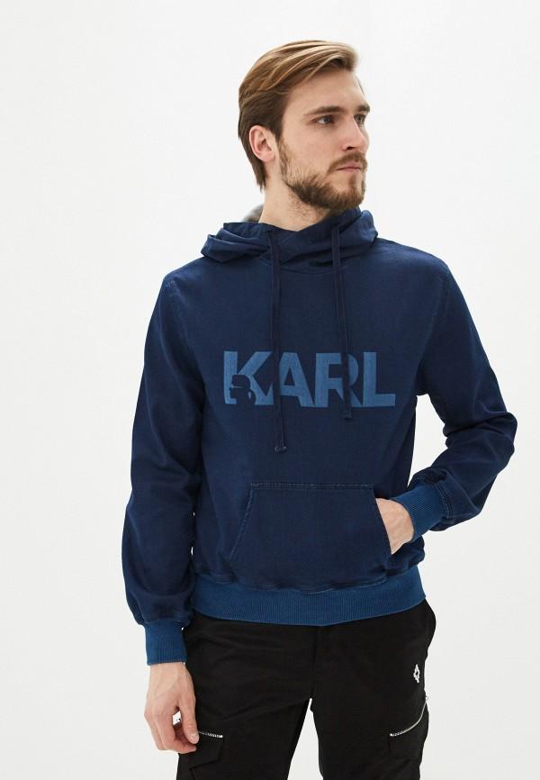 мужские худи karl lagerfeld denim, синие
