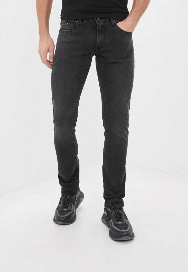 мужские зауженные джинсы karl lagerfeld denim, черные