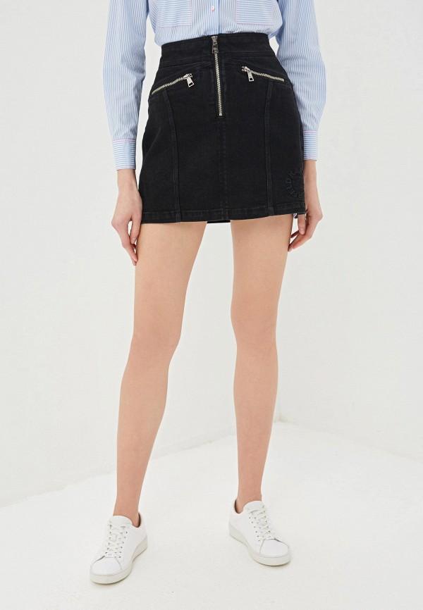 Юбка джинсовая Karl Lagerfeld Denim Karl Lagerfeld Denim KA047EWFANZ1 цена 2017