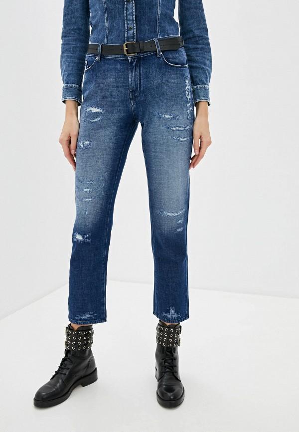 женские джинсы бойфренд karl lagerfeld denim, синие