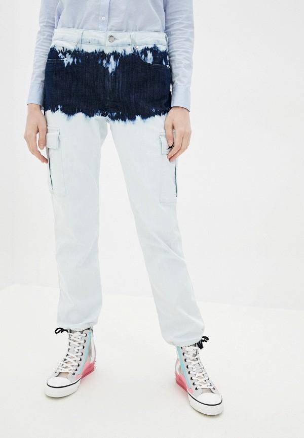 женские прямые джинсы karl lagerfeld denim, голубые