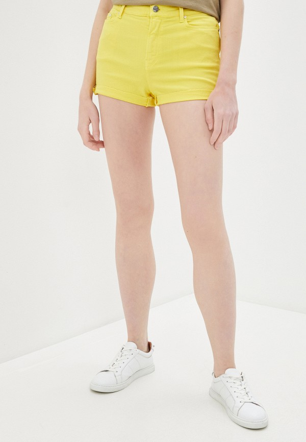 женские повседневные шорты karl lagerfeld denim, желтые