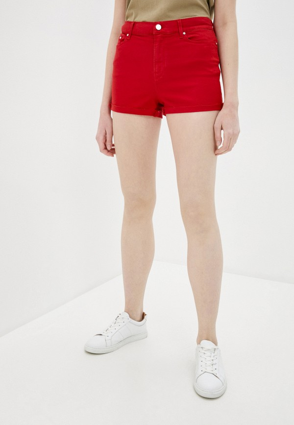женские повседневные шорты karl lagerfeld denim, красные