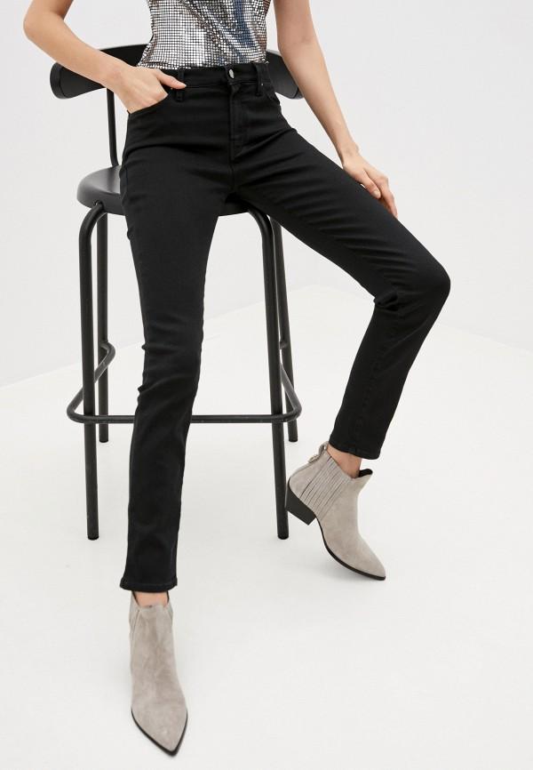 женские джинсы скинни karl lagerfeld denim, черные