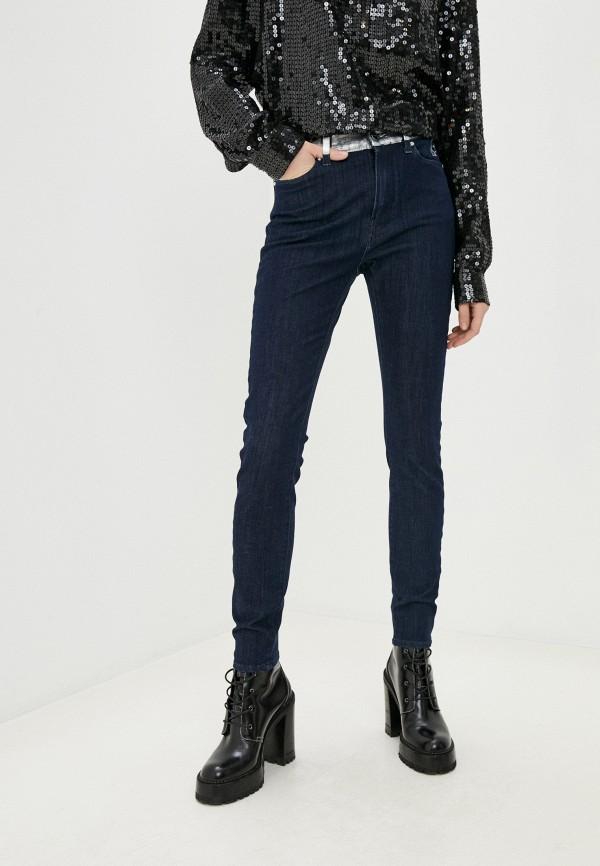 женские джинсы karl lagerfeld denim, синие