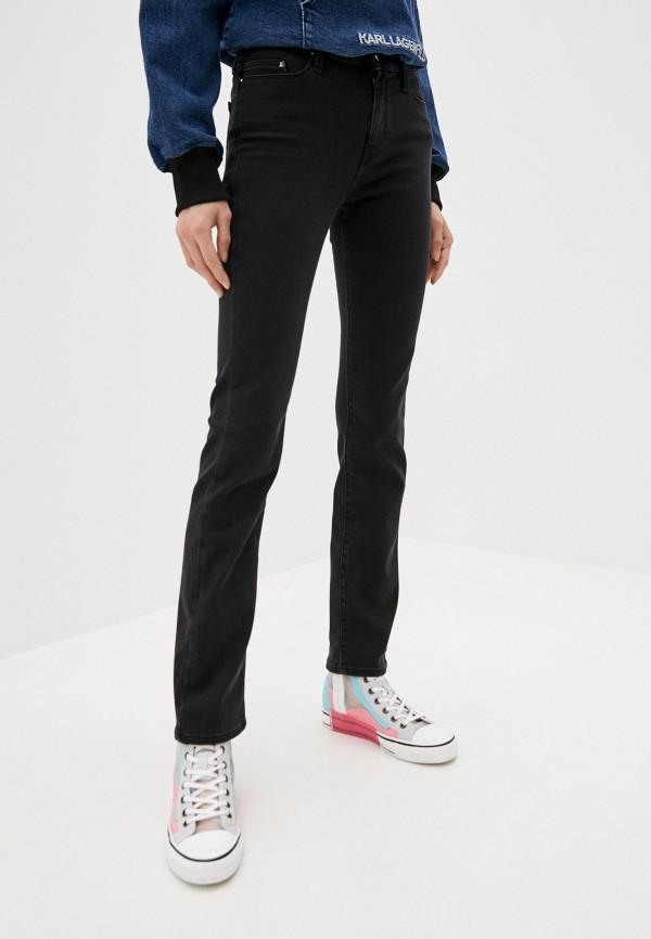 женские прямые джинсы karl lagerfeld denim, черные