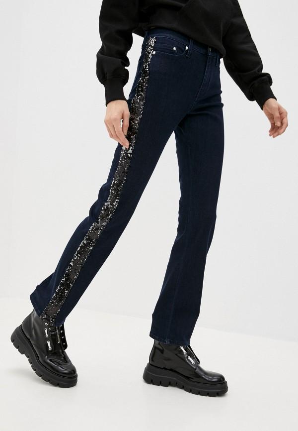 женские прямые джинсы karl lagerfeld denim, синие