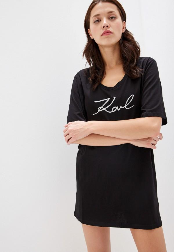 купить Футболка Karl Lagerfeld Beachwear Karl Lagerfeld Beachwear KA048EWFMVS8 по цене 7400 рублей